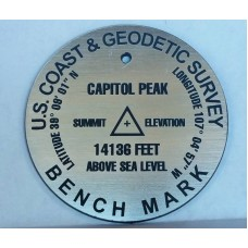 2.5 inch Summit Marker in Silver