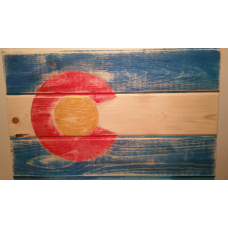 Colorado Flag Blue Rustic Beetle Kill