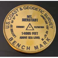 2 inch Metal Summit Marker Engraved