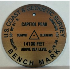 2.5 inch Summit Marker in Bronze Singles with Errors Clearance