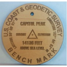 2.5 inch Summit Marker in Wood