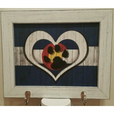 Colorado Dog Heart Magnetic frame